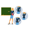Female teacher with blackboard vector image vector image