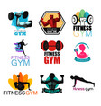 fitness gym logos vector image