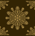 floral circular pattern vector image