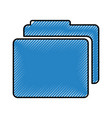 folder file isolated icon vector image vector image