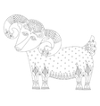 goat symbol of 2015 year decorative drawing in vector image