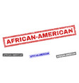 grunge african-american scratched rectangle vector image vector image