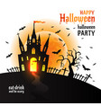 halloween dracula s castle on vector image