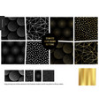 hand drawn patterns - black vector image vector image