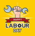 happy labour day vector image