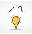 House with Light Bulb vector image vector image