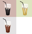 Iced Coffee Background vector image vector image