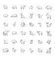 icons Zoo Animals vector image vector image
