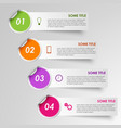 Info graphic progress stickers template vector image vector image
