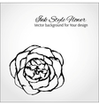 Ink style flower Elegant card for Your design vector image