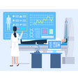laboratory tech patient cardiogram clinic vector image vector image