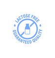 lactose gluten free dairy icon milk dietary vector image