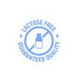 lactose gluten free dairy icon milk dietary vector image vector image