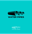 logo water pipe vector image vector image