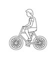 man riding bike icon image vector image vector image