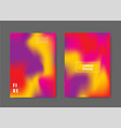 modern abstract covers set colorful blending and vector image vector image