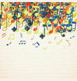 musical theme background vector image vector image