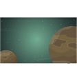 Outer space cartoon with planet of landscape vector image vector image