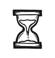painted sand clock vector image