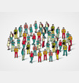 people crowd background vector image vector image