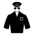 police black color icon vector image vector image