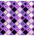 purple abstract repeating diagonal square pattern vector image vector image