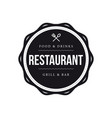 restaurant vintage stamp black sign vector image vector image