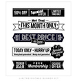 Retro Vintage Typographic Business Banner Design vector image