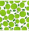 seamless pattern apples vector image vector image