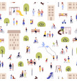 seamless pattern with men and women walking vector image vector image