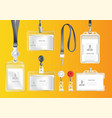 set of badges and id cards vector image