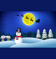 set of realistic snowman isolated or cute snowman vector image