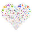 shekel fireworks heart vector image vector image