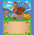 small parchment and turkey bird 3 vector image vector image