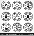sport badges and labels in vintage style vector image