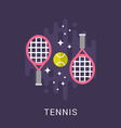 Sport Concept Tennis Flat Style vector image vector image