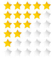 stylish star rating template vector image vector image