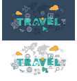 travel website banner design concept vector image vector image