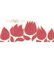 tulips blossom invitation color template vector image vector image