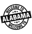welcome to alabama black stamp vector image vector image