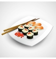 Sushi plate vector image