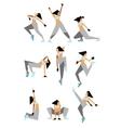 Modern dancers poses vector image