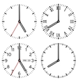 Clock face Set of different styles vector image