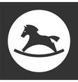 rocking horse icon vector image