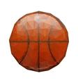 Abstract geometric polygonal basketball vector image