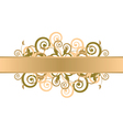 gold floral background vector image