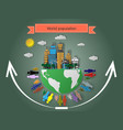 rise of the world population vector image