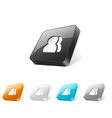 3d web button with users icon vector image vector image