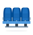 a triple-seat aircraft flat material design vector image vector image