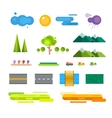 Abstract landscape constructor icons set vector image vector image